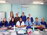 Lit students with Josephine ClarkeTHUMB